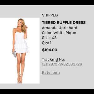 Amanda Uprichard White Strapless Mini Dress